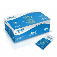 Clinell Antibacterial Hand Wipes Pack of 100 GCAHW100