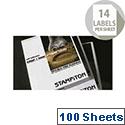 Stampiton Laser Label 99.1x38.1mm 14 per Sheet Pack of 100 STW099038PO PDL1