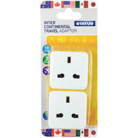 Status Intercontinental Travel Adaptor Pack of 8 SINTERAD2Pk4