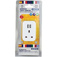 Status European USB Travel Adaptor Pack of 3 S2USBPTEURO1PK3