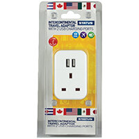 Status Intercontinental USB Travel Adaptor Pack of 3 S2USBPTINTER1PK3