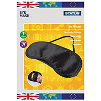 Status Travel Eye Mask with Strap Pack of 10 SEYEMASK1PKB10