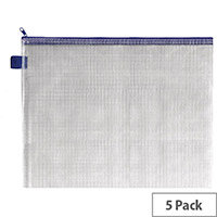 Sterling Handy Zip Pouch 360x275mm Blue 149163