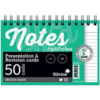 Silvine Revision Presentation and Note Cards Twinwire White PADRC64-C