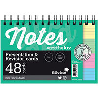 Silvine Revision Presentation and Note Cards Twin Assorted?