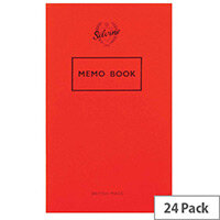 Silvine Memo Book 159x95mm 36 Leaf 042F Ruled Feint 24 Pack