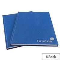 Silvine A4 Manuscript Book 96 Leaf Ruled Feint CBA4