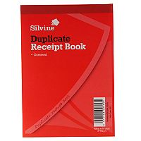 Silvine Duplicate Receipt Book 105x148mm Gummed Pack of 12
