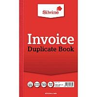 Silvine Red Duplicate 8 x 5 Inch Invoice Book Pack of 6 611