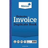 Silvine Blue Carbonless Duplicate Invoice Book Pack of 6