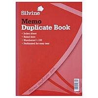 Silvine Duplicate Book A4 Memo 614-T