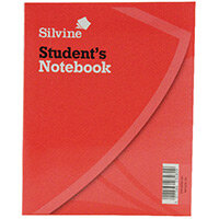 Silvine Exercise Book 8x6.4 inches 40 Leaf Ruled Feint 144