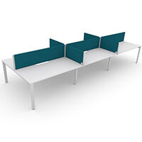 Switch 6 Person Bench Desk With Privacy Screens W 3x2000mm x D 2x700mm