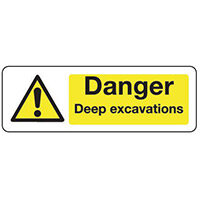 Sign Danger Deep Excavations 300x100 Aluminium