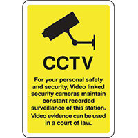 Sign Cctv For Your Personal Safety 300x400 Aluminium