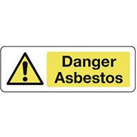 Sign Danger Asbestos 600X200 Rigid Plastic