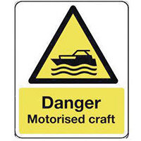 Sign Danger Motorised Crafta 300X100 Rigid Plastic