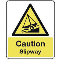 Sign Caution Slipway 300X100 Rigid Plastic