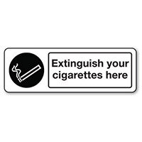 Sign Extinguish Your Cigarettes Rigid Plastic 300x100