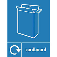 "Recycling Sign ""Cardboard"" Rigid Plastic 300x400mm"