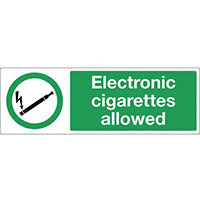 Electronic Cigarettes Allowed Rigid Plastic 600x200 mm