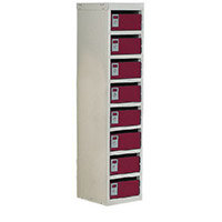 Locker Post Box Red Doors 100 Series Table Mount 8 Box