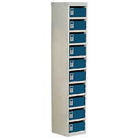 Locker Post Box Blue Doors 140 Series Floor Mount 10 Box