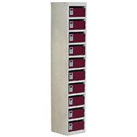 Locker Post Box Red Doors 140 Series Floor Mount 10 Box