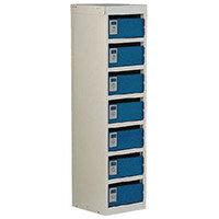 Locker Post Box Blue Doors 140 Series Table Mount 7 Box