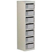 Locker Post Box Light Grey Doors 140 Series Table Mount 7 Box