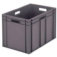 Containers Plastic -Stacking Colour Grey 28L