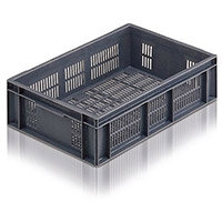 Containers Plastic -Stacking Colour Grey Ventilated 12L