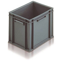 Containers Plastic -Stacking Colour Grey 15L