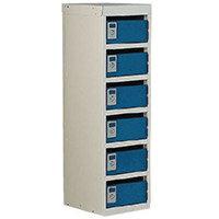 Locker Post Box Blue Doors 240 Series Floor Mount 6 Box