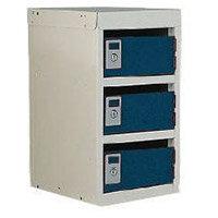Locker Post Box Blue Doors 240 Series Table Mount 3 Box