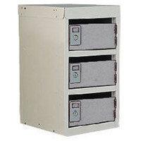 Locker Post Box Light Grey Doors 240 Series Table Mount 3 Box
