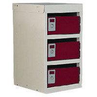 Locker Post Box Red Doors 240 Series Table Mount 3 Box
