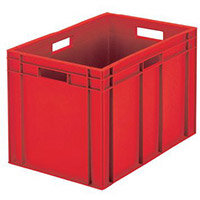 Containers Plastic -Stacking Colour Red 45L
