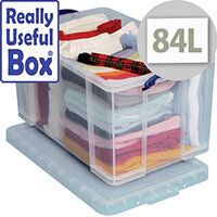 Really Useful Box 84 Litre Capacity Transparent Container