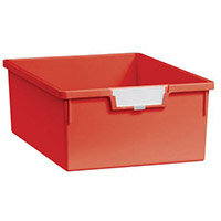 Tray  A4 Deep Red 157x312x425mm-Pack Of 10