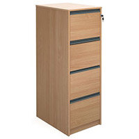 Deskinghxwxd1350X480X650Beech Filing Cabinet 4Drawer Beech