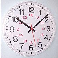 Clock 24 Hour Quartz Analogue