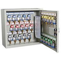 Cabinet Key Padlock Holds 25 Padlocks/Combination Lock