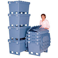 Container Multi-Purpose 115L 30Kg 800x600x353 With Hinged Lids