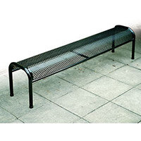 Bench Metal Free-Standing Black L:1500mm