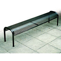 Bench Metal Free-Standing Red L:1800mm