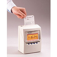 Calculating Time Clock Inc 100 Cards & 25 Slot Rack