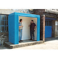 Waiting Shelter -No Windows Blue L:2400 W:1500 H:2250mm