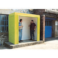 Waiting Shelter -No Windows Yellow L:2400 W:2400 H:2300mm