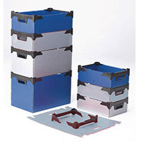 Bins Tote Plastic Storage Blue HxWxL mm: 300x295x460 Pack of 10